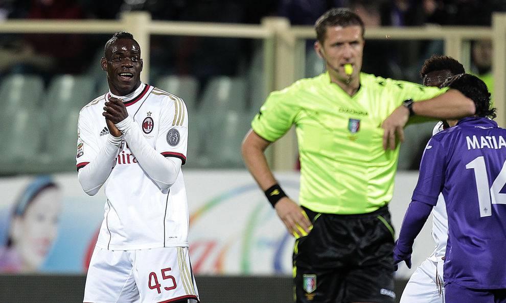 Milan, Balotelli su Orsato
