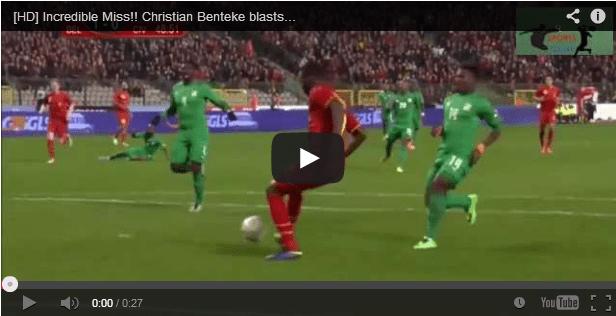 Video Benteke sbaglia un gol clamoroso