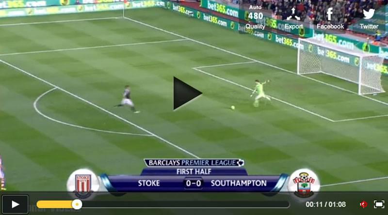 Video incredibile gol del portiere Begovic da 95 metri