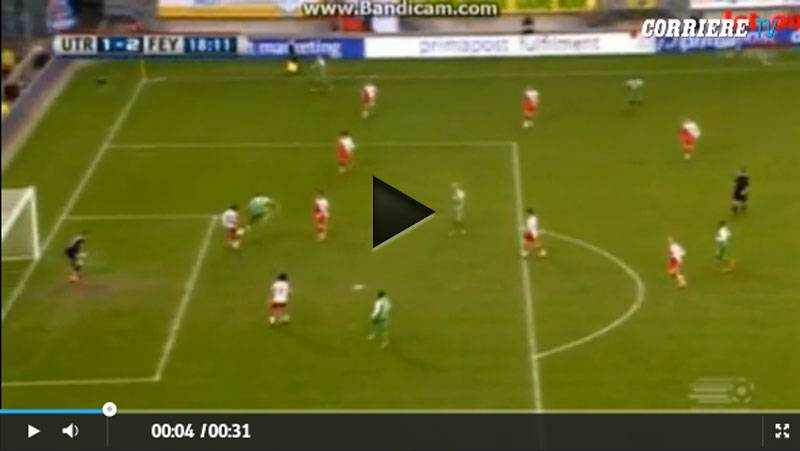 Video incredibile gol di tacco di Pelle'
