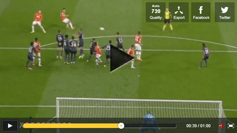 Video punizione incredibile di Van Persie