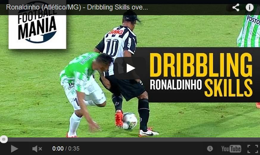Video incredibile dribbling di Ronaldinho