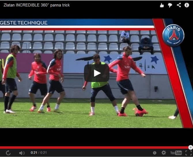 Video, Ibrahimovic magie in allenamento