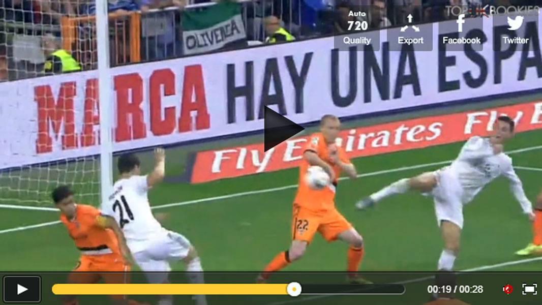 Video, incredibile gol di tacco di Cristiano Ronaldo