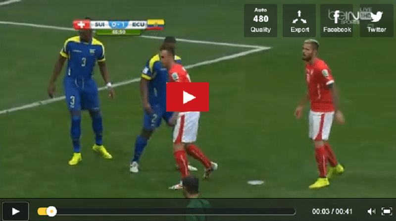 VIDEO Svizzera-Ecuador