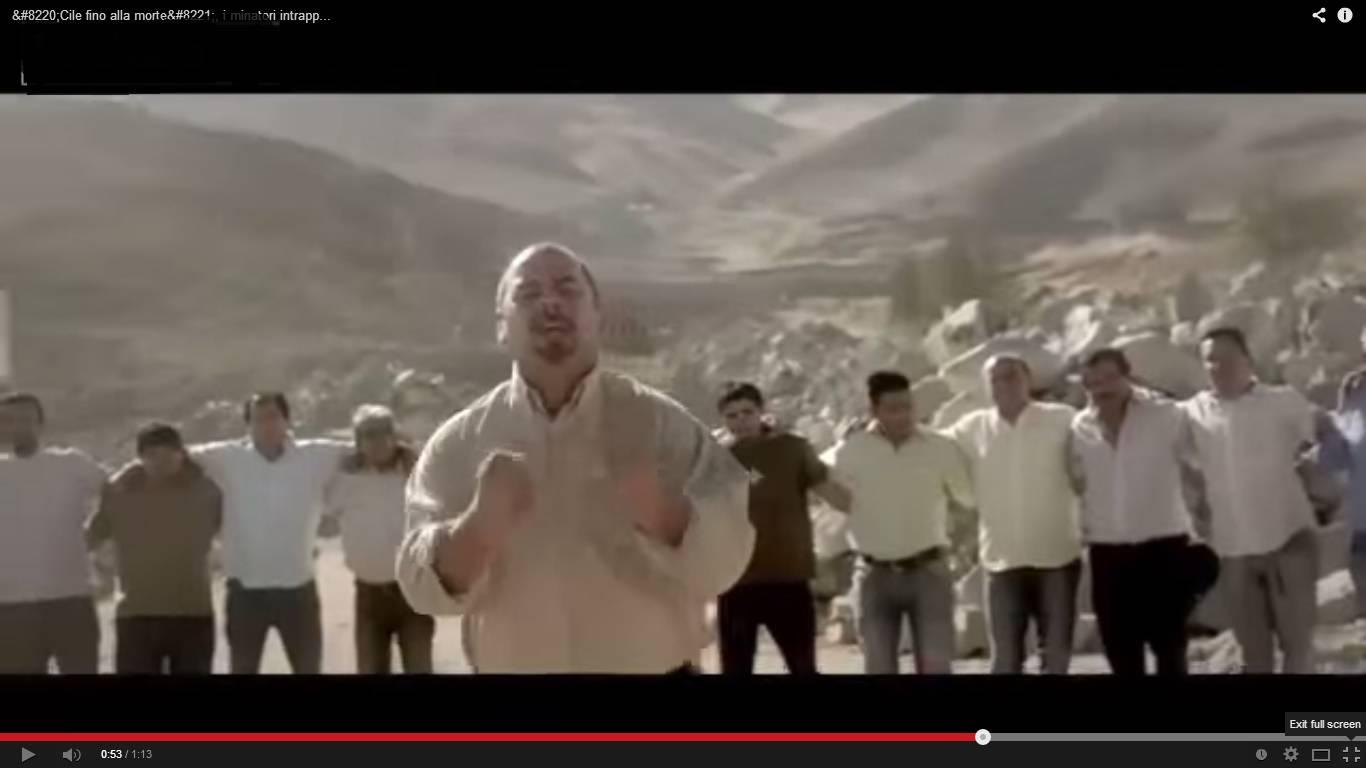 Video Cile, spot minatori
