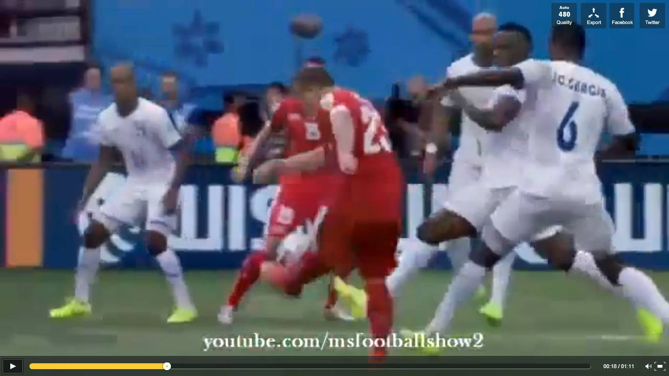 Video Honduras-Svizzera 0-3