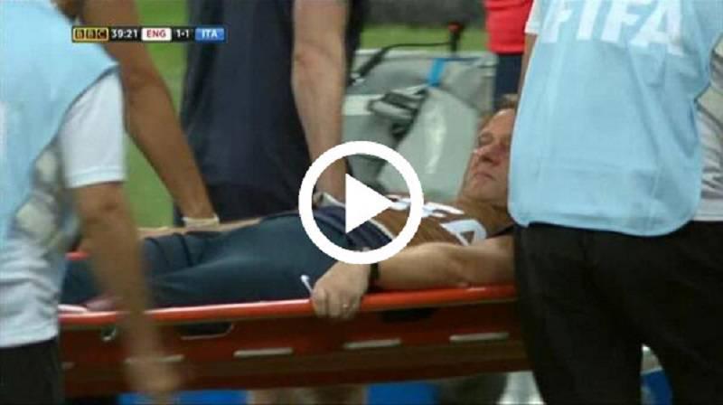 Video Inghilterra-Italia, fisioterapista inglese si infortuna