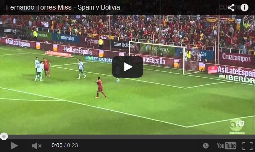 Video, Torres errore incredibile