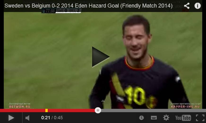 Video gol meraviglioso di Hazard con il Belgio