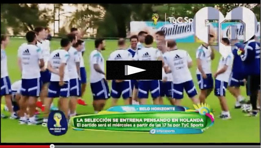 Argentina, Lavezzi imita
