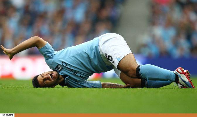Man City, incidente stradale per Aguero