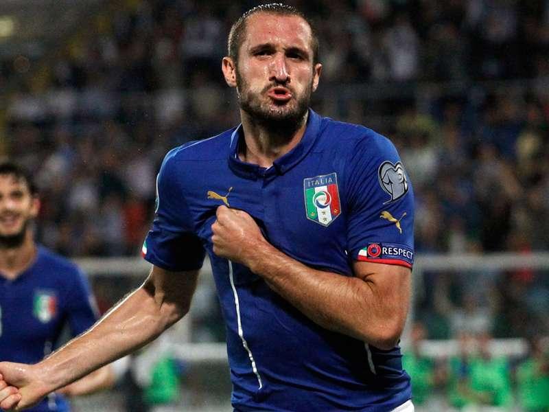 Italia-Portogallo cento presenze Chiellini