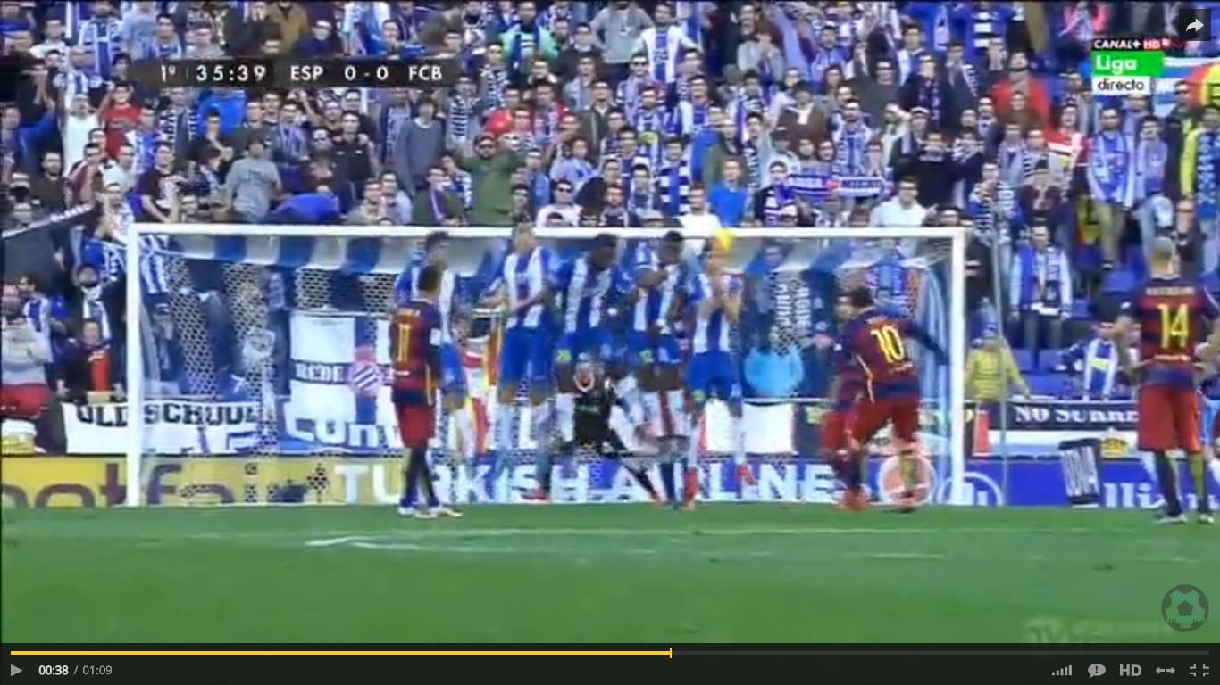 Highlights Espanyol-Barcellona 0-0, video gol Liga (02/01/2016): Messi e  Suarez fermi al palo, Atletico Madrid in vetta