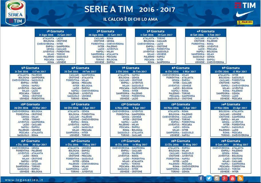 calendario seria a 2016 2017