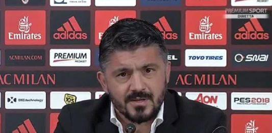 """Olympiacos Milan, Gattuso: """"Suso ha un fastidio. È in dubbio"""