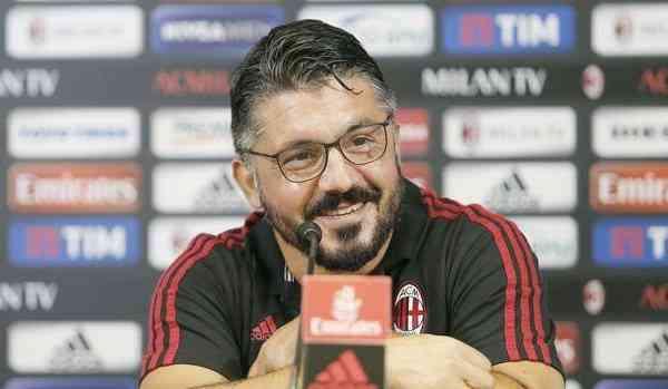 Milan Sampdoria conferenza Gattuso