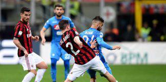 Milan Napoli probabili formazioni