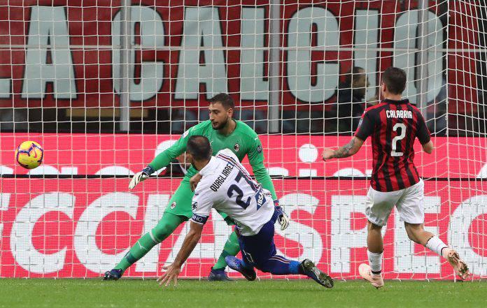 Sampdoria Milan probabili formazioni