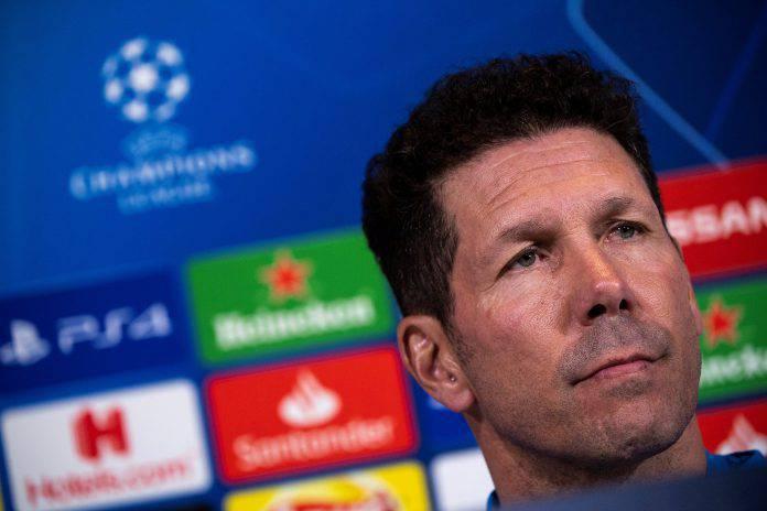 Juventus Atletico Madrid conferenza stampa Simeone