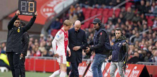 Juventus-Ajax    infortunio De Jong    il centrocampista è convocato