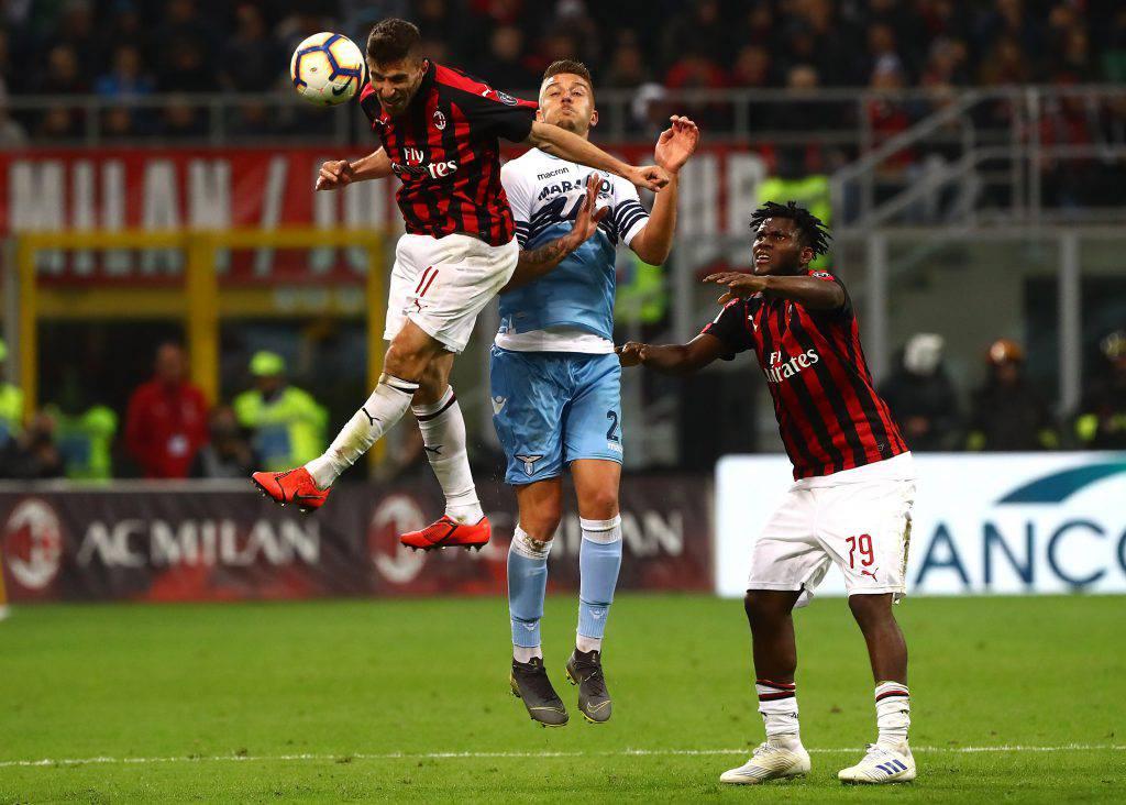 Milan Lazio formazioni ufficiali