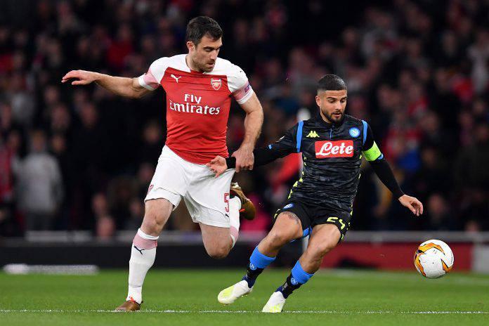 Napoli Arsenal formazioni ufficiali