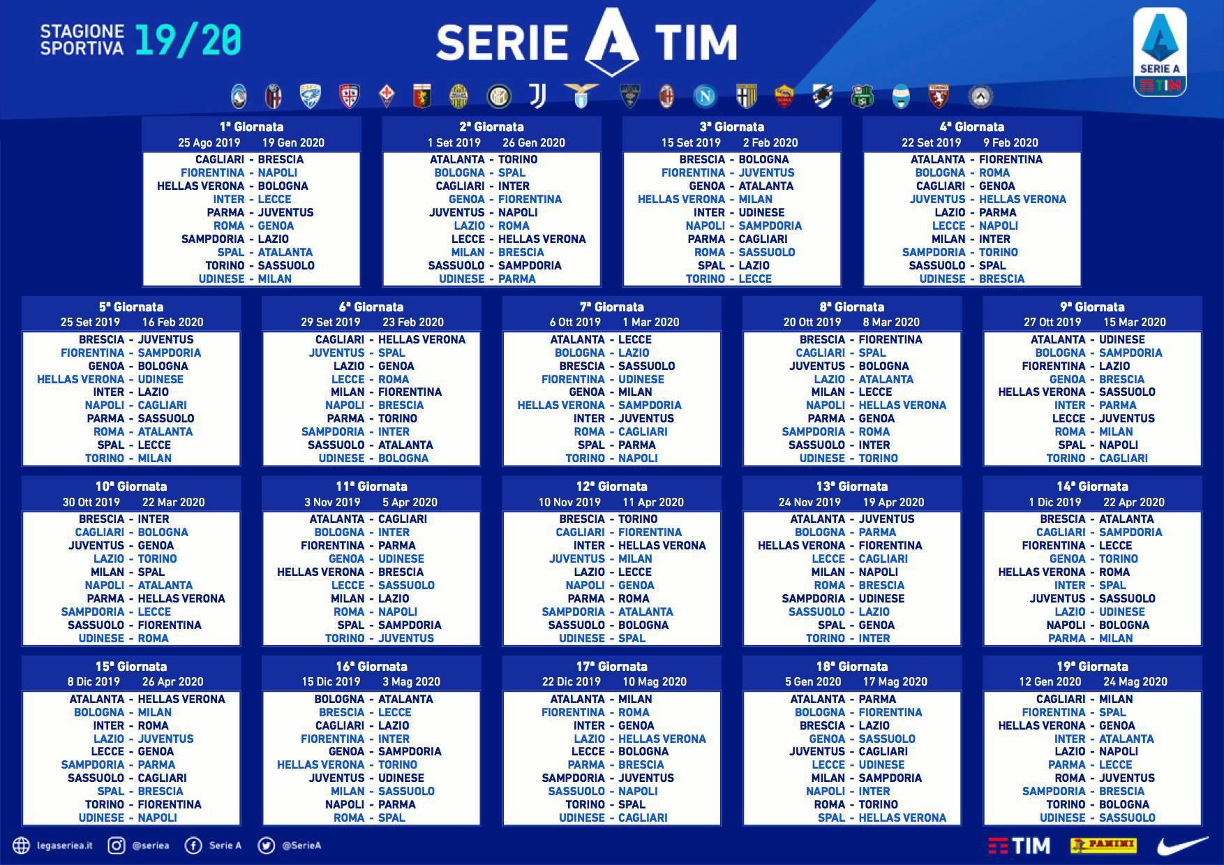 Calendario Premier League 2020 16.Calendario Fiorentina 2020 21 Calendario 2020