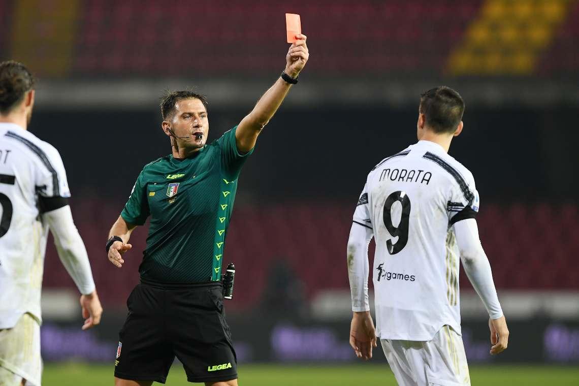 Juventus, espulsione Morata: ecco cosa è successo