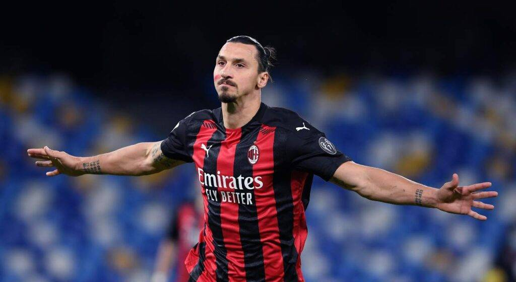 Napoli Milan gomitata Ibrahimovic