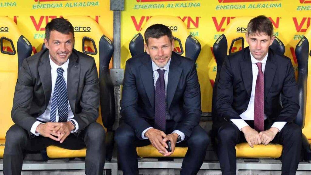 Boban insieme a Maldini e Massara, inizialmente uniti per il bene del Milan