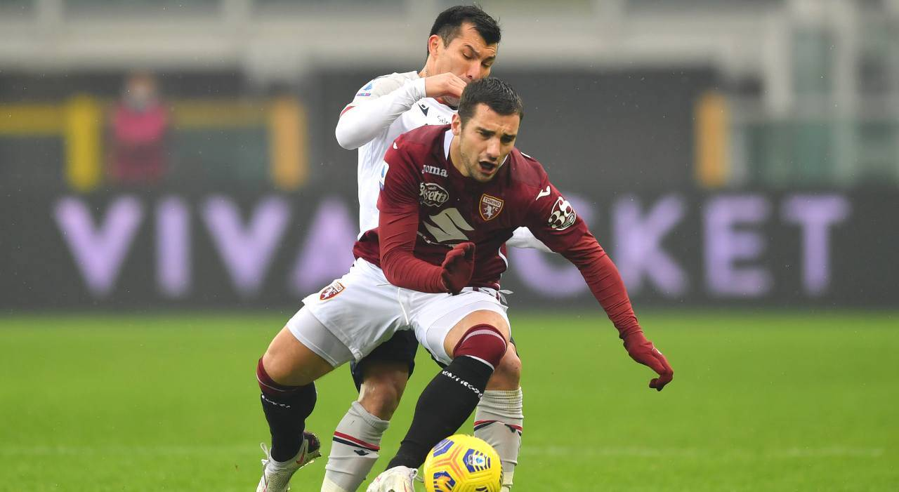 Bonazzoli infortunio Torino Bologna