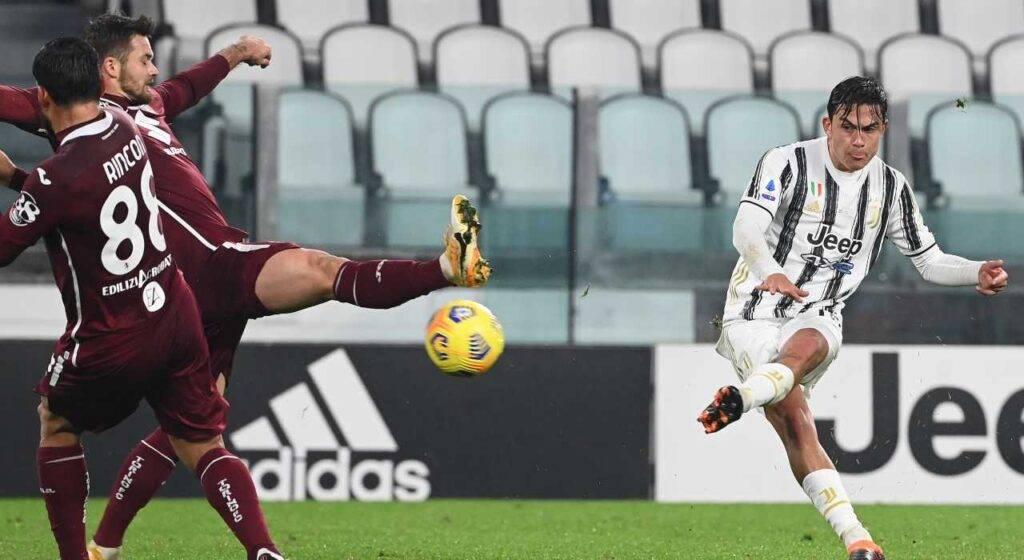 Dybala contro il Torino di Segre