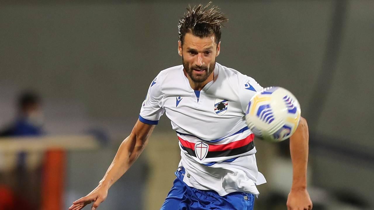 Antonio Candreva con la Sampdoria