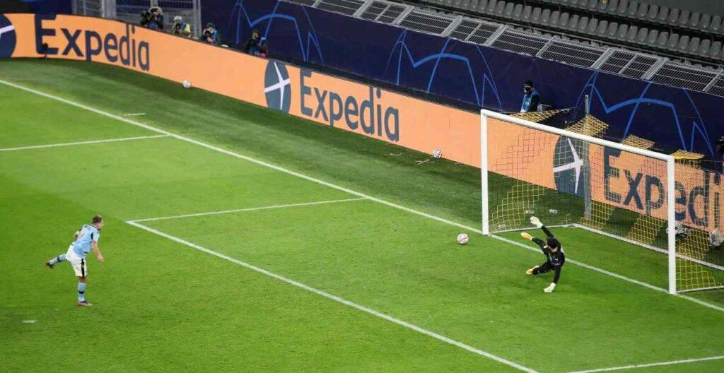 Immobile rigore Lazio Borussia