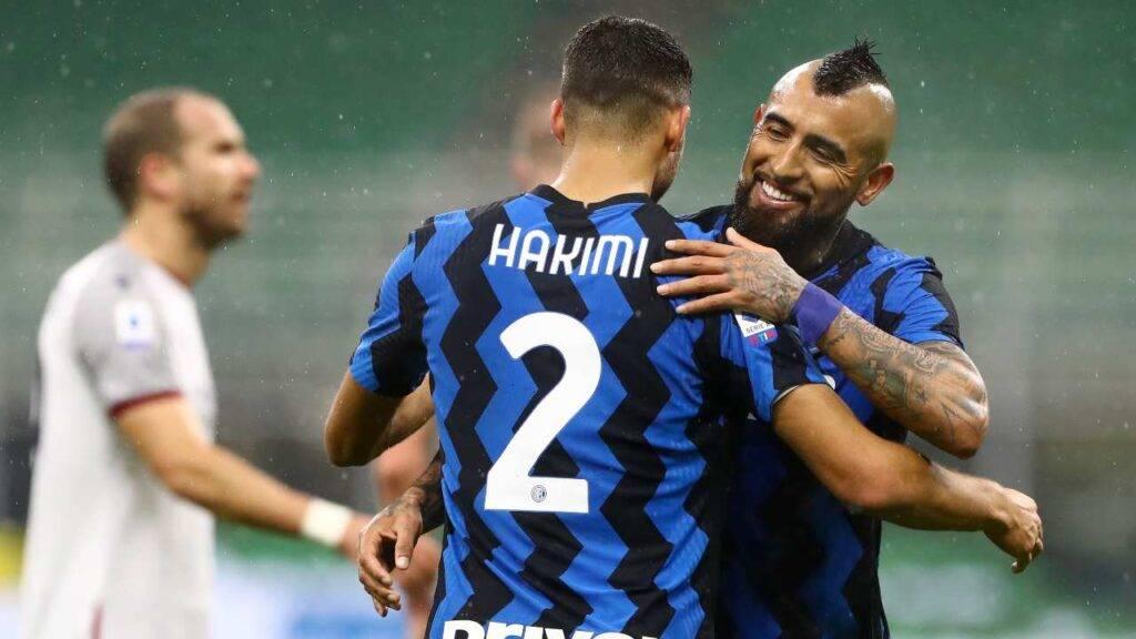 Inter Napoli: Vidal no, Hakimi forse