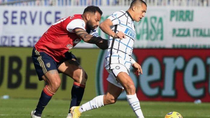 Inter Napoli, Sanchez finito ko con il Cagliari non ci sarà