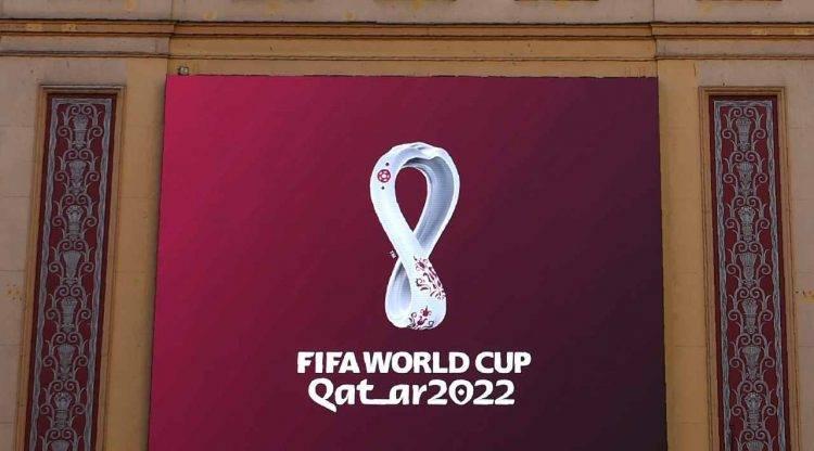 Il logo dei Mondiali in Qatar nel 2022