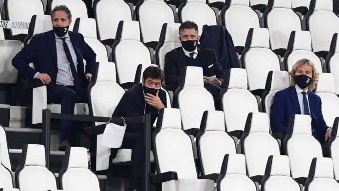 Dirigenza della Juventus allo Stadium