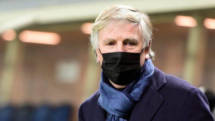 Enrico Preziosi con la mascherina anti Covid