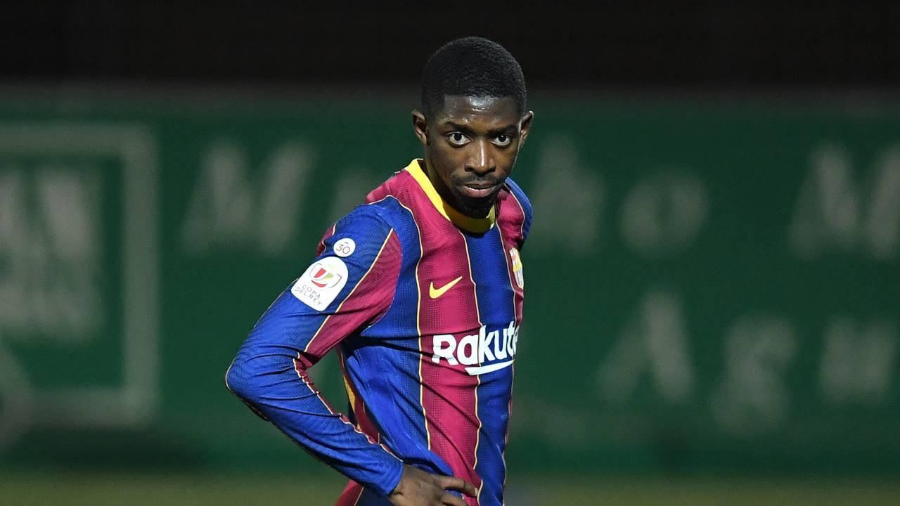Ousmane Dembélé in campo