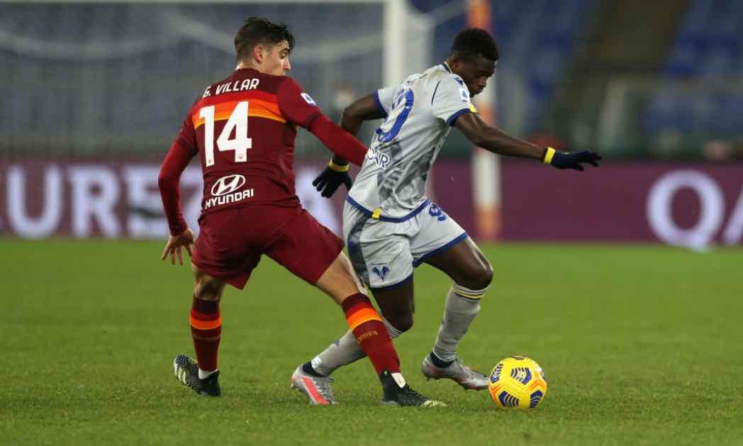 Roma-Verona in campo