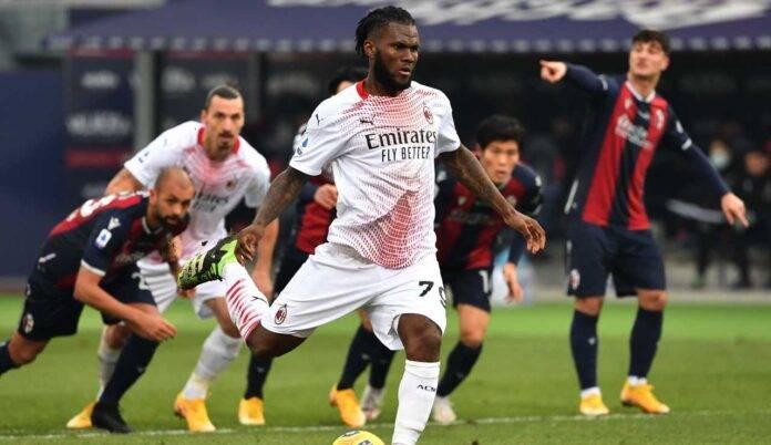 Kessie realizza dal dischetto e chiude la partita Bologna-Milan