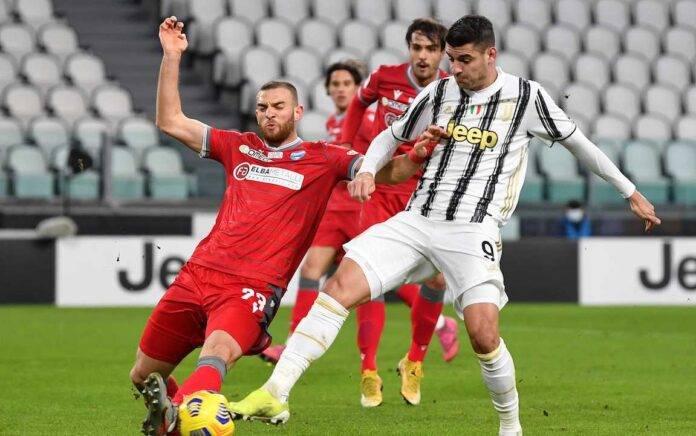 Morata Juventus contrasto