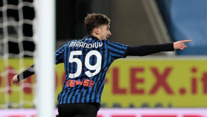 Miranchuk esulta dopo il gol alla Lazio