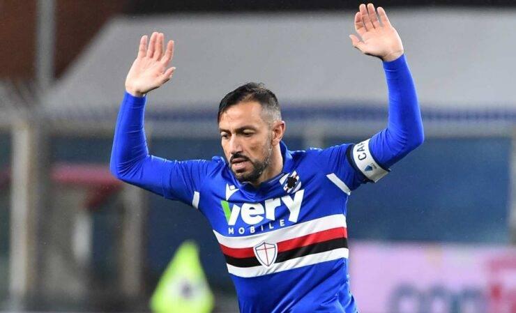 Fabio Quagliarella in campo