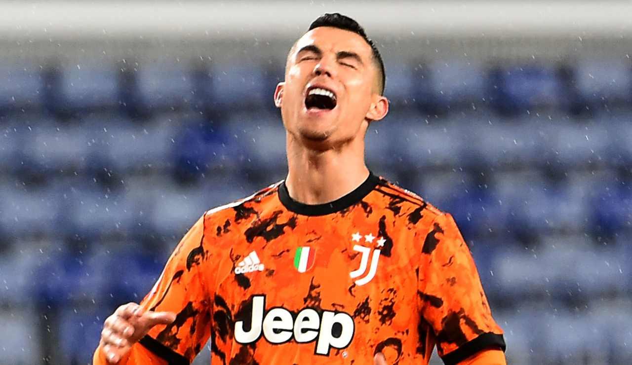 Cristiano Ronaldo si dispera