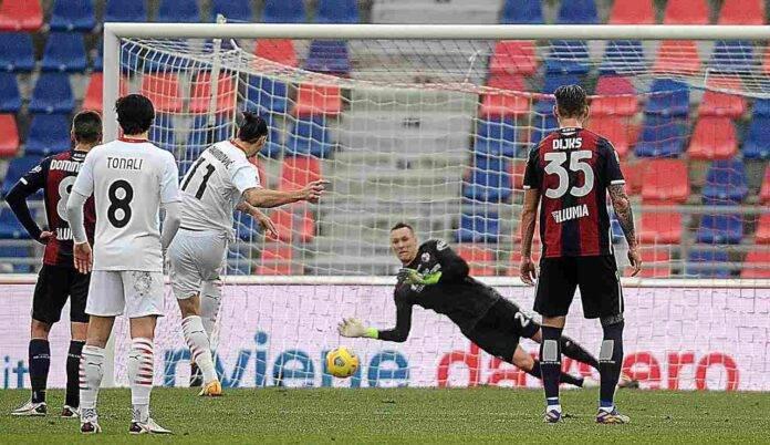 Ibrahimovic si fa parare un rigore da Skorupski