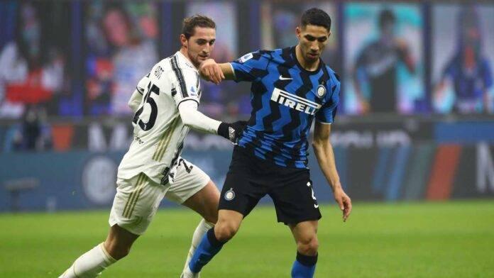 Hakimi contro la Juventus