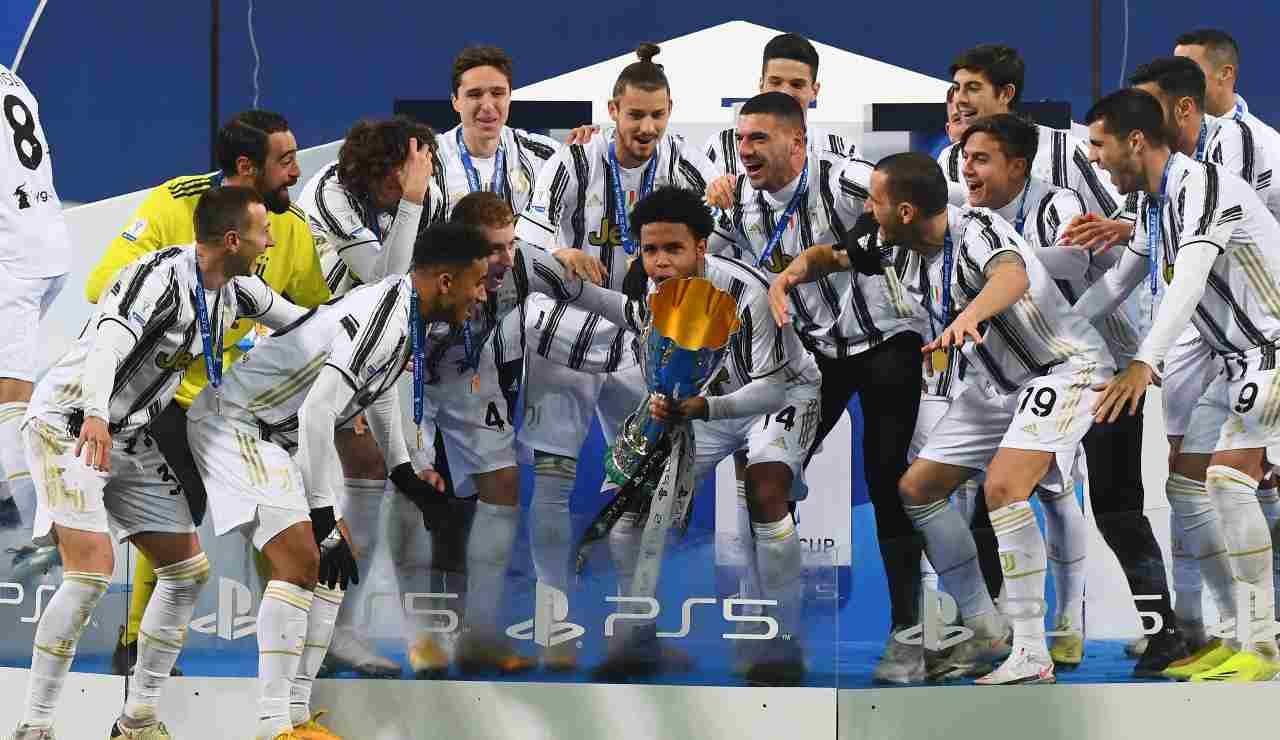 Premiazione supercoppa Juventus
